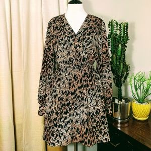 Esley Python Print Long-Sleeve Dress